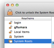 Keychain Access without login keychain as default